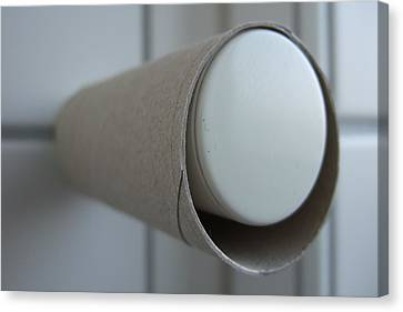 Empty Toilet Paper Roll Canvas Print by Matthias Hauser
