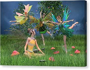 Enchanting Souls Canvas Print by Betsy Knapp