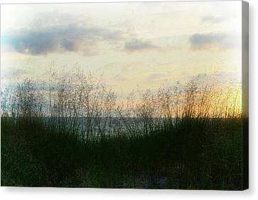 End Of Day At Pentwater Canvas Print by Michelle Calkins