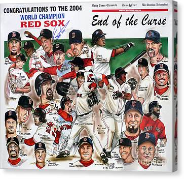 End Of The Curse Red Sox Newspaper Poster Canvas Print by Dave Olsen