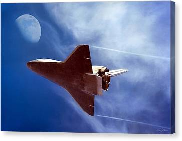 Endeavour Return Canvas Print by Peter Chilelli