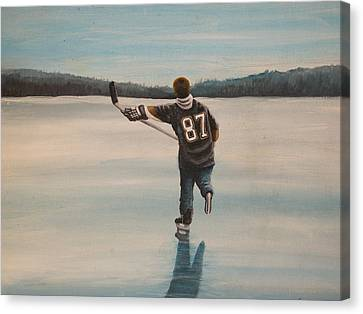 Endless Ice - Sid The Kid Canvas Print by Ron  Genest
