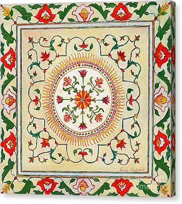 Enduring Love Floral Painting Canvas Print by Enzie Shahmiri