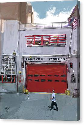 Engine Co. 16 Canvas Print by Russell Pierce