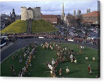England, York Reenactment Of The Battle Canvas Print by Keenpress