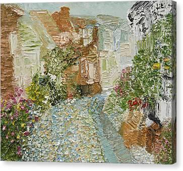 English Cobblestone Canvas Print by Tara Leigh Rose
