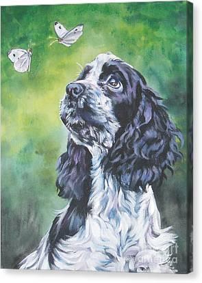 English Cocker Spaniel  Canvas Print by Lee Ann Shepard
