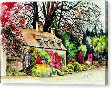 English Country Cottage Canvas Print by Morgan Fitzsimons