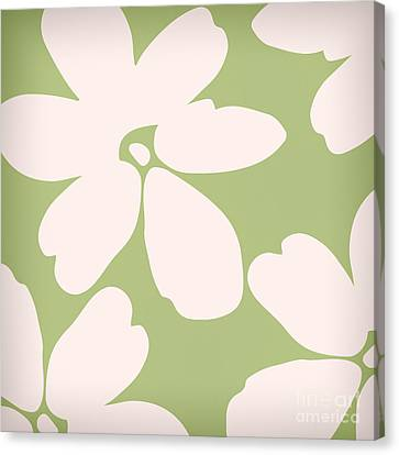 English Garden Floral Pattern Canvas Print by Mindy Sommers