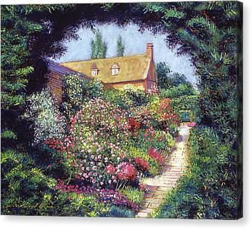 English Garden Stroll Canvas Print by David Lloyd Glover