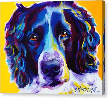 English Springer Spaniel - Emma Canvas Print by Alicia VanNoy Call