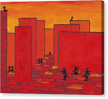 Enjoy Dancing In Red Town P2 Canvas Print by Manuel Sueess