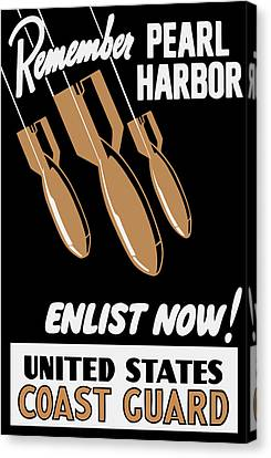 Enlist Now - United States Coast Guard Canvas Print by War Is Hell Store