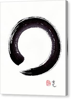 Enso - Embracing Imperfection Canvas Print by Oiyee At Oystudio