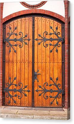 Entrance Door Canvas Print by Boyan Dimitrov