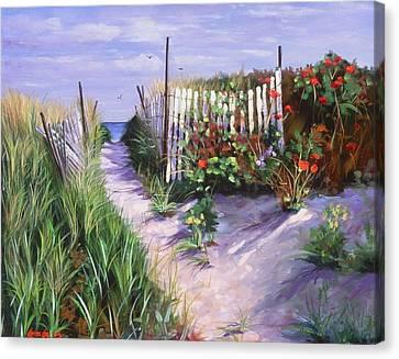 Entrance To Nantasket Canvas Print by Laura Lee Zanghetti