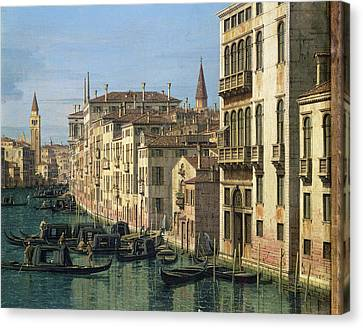 Entrance To The Grand Canal Looking West Canvas Print by Canaletto