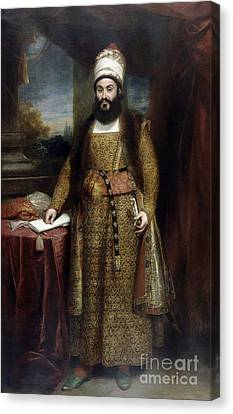 Envoy Of The Persian Empire Canvas Print by Murza Abdul
