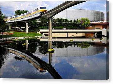 Epcot Reflections Canvas Print by David Lee Thompson