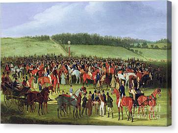 Epsom Races - The Betting Post Canvas Print by James Pollard