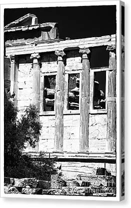 Erechtheum Columns Canvas Print by John Rizzuto