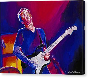 Eric Clapton - Crossroads Canvas Print by David Lloyd Glover