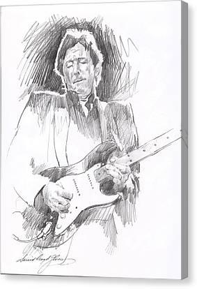 Eric Clapton Blackie Canvas Print by David Lloyd Glover