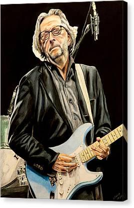 Eric Clapton Canvas Print by Chris Benice