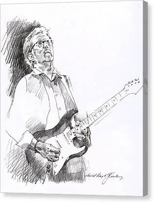 Eric Clapton Joy Canvas Print by David Lloyd Glover