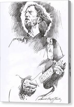 Eric Clapton Sustains Canvas Print by David Lloyd Glover