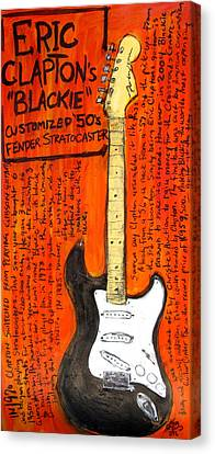 Eric Claptons Stratocaster Blackie Canvas Print by Karl Haglund
