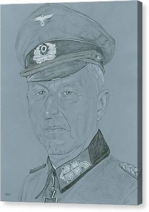 Erich Von Manstein Canvas Print by Dennis Larson