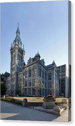 Erie County Hall Canvas Print by Peter Chilelli
