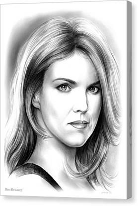 Erin Richards Canvas Print by Greg Joens