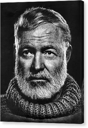 Ernest Hemingway Canvas Print by Daniel Hagerman