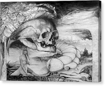 Eros Thanatos Canvas Print by Otto Rapp