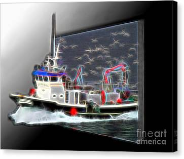 Escaping The Seagulls Canvas Print by Sue Melvin