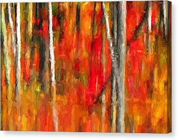 Escapism - Fall Reflections Canvas Print by Andrea Kollo