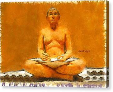 Escriba Canvas Print by Leonardo Digenio
