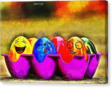 Ester Eggs - Da Canvas Print by Leonardo Digenio