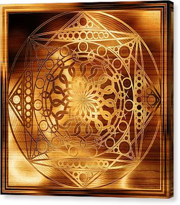Eternity Mandala Golden Zebrawood Canvas Print by Hakon Soreide