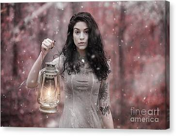 Ethereal Snow Beauty Canvas Print by Jt PhotoDesign