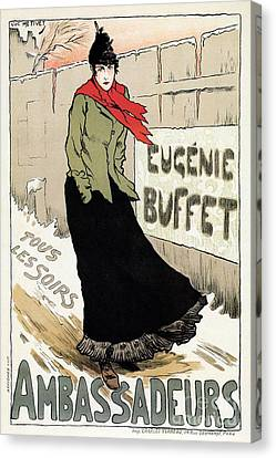 Eugenie Buffet Winter Canvas Print by Aapshop