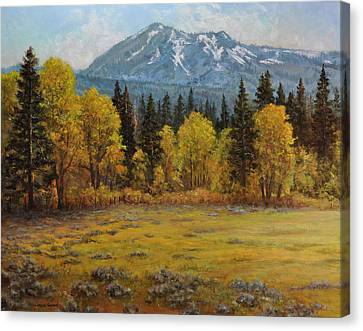 Eureka Peak Canvas Print by Loreen Thomas