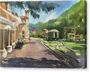 Eureka Springs Station Canvas Print by Spencer Meagher