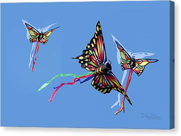 Even Butterflies Have Guardian Angels Canvas Print by Anthony R Socci