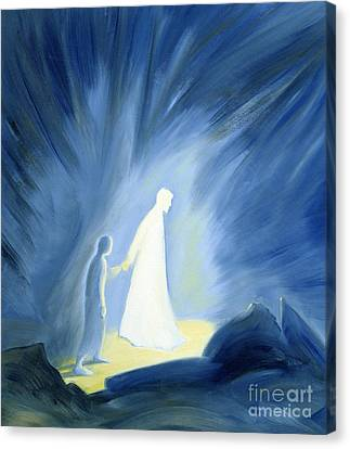 Even In The Darkness Of Out Sufferings Jesus Is Close To Us Canvas Print by Elizabeth Wang