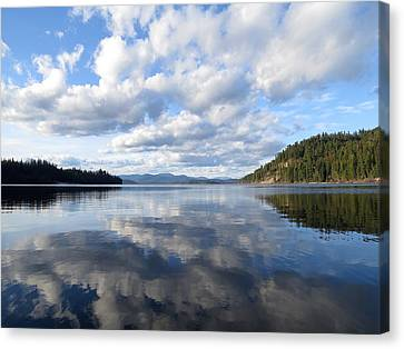 Evening At Priest Lake 1 Canvas Print by Feva  Fotos
