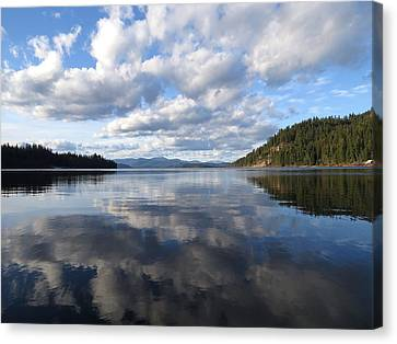 Evening At Priest Lake 2 Canvas Print by Feva  Fotos