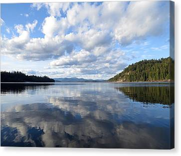 Evening At Priest Lake Canvas Print by Feva  Fotos